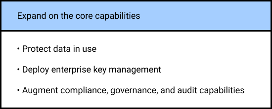 Steps to expand on the core capabilities