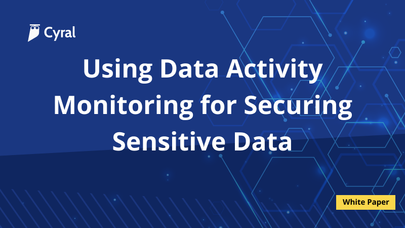 Using Data Activity Monitoring for Securing Sensitive Data