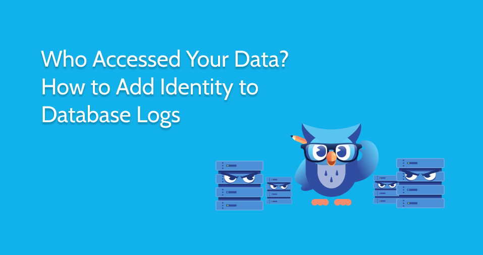 Who Accessed your Data? How to add Identity to database logs